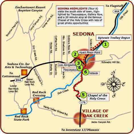 map of sedona areas sedona map collection simple useful good