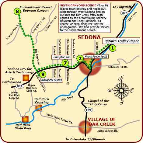 Map Of Arizona Including Sedona.Sedona Arizona Maps All Areas Brief Info Map Of Sedona Routes On